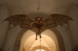 Batman von Leonardo Da Vinci in Rom (Foto: Lukas Gedziorowski)