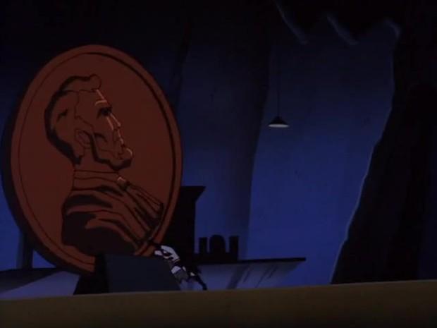 Batman bringt den Riesenpenny in Bewegung