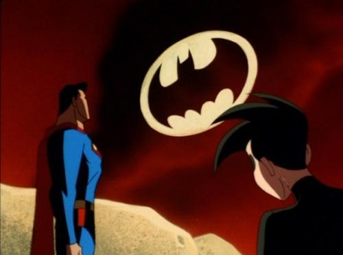 Die Pflicht ruft: Superman, Robin und das Batsignal