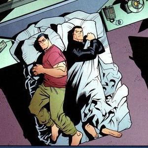 Superman und Batman: Deckenkampf im Bett (DC Comics)