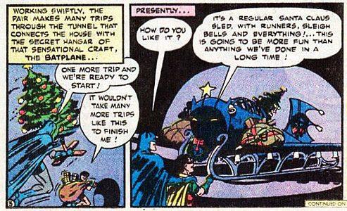Batmans Weihnachtsschlitten