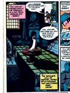 Der erste Trophäenraum. (Batman #12, 1942)