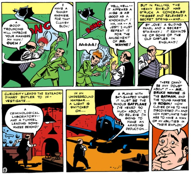 Batman #16 (1943): Alfred entdeckt die Bathöhle