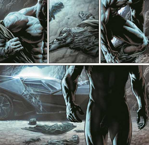 Bruce Wayne nackt in Batman Damned (DC Comics)