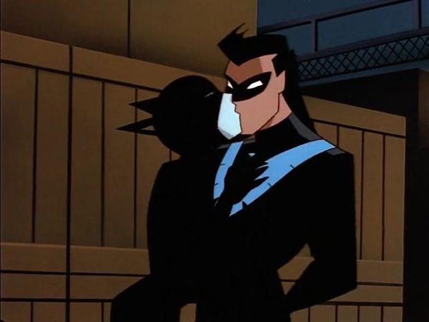 Catwoman küsst Nightwing
