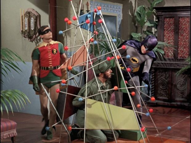 Batman und Robin lösen ein Rätsel