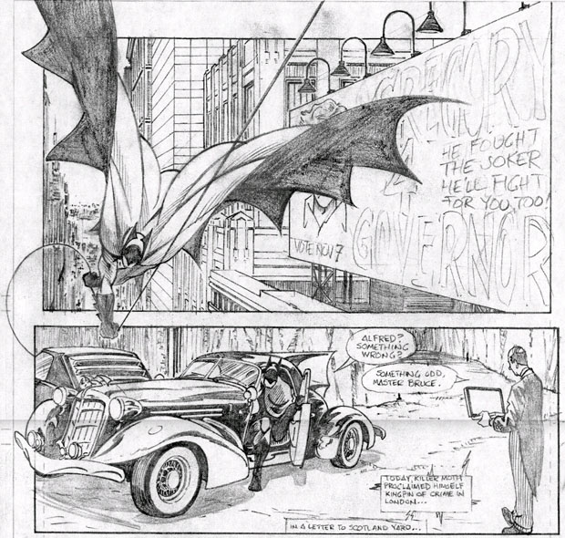 Batman und Batmobil in Dark Detective III