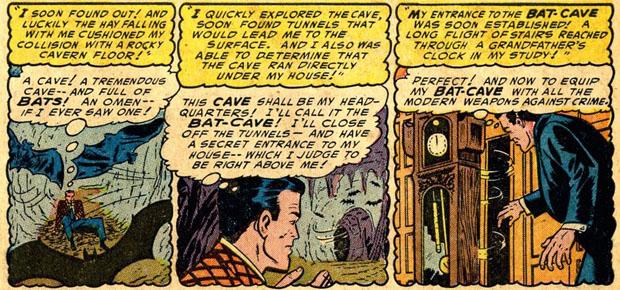 Bruce Wayne entdeckt die Bathöhle