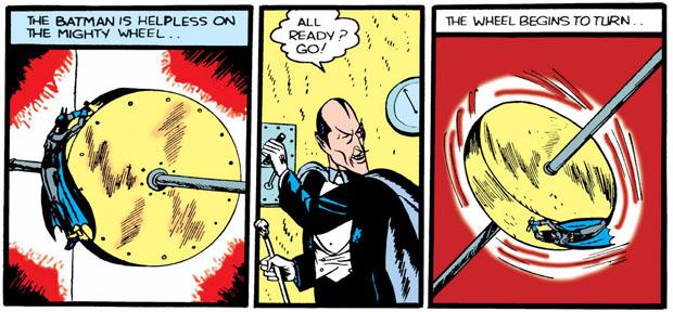 Batman auf dem Rad des Todes