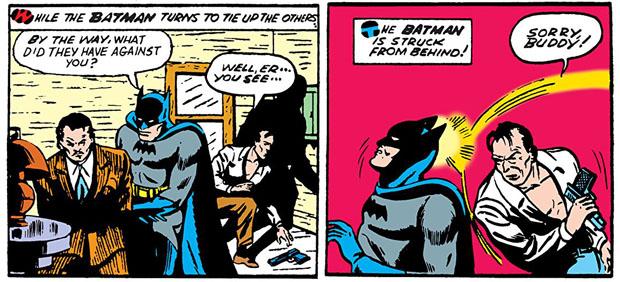 Batman wird ausgeknockt.