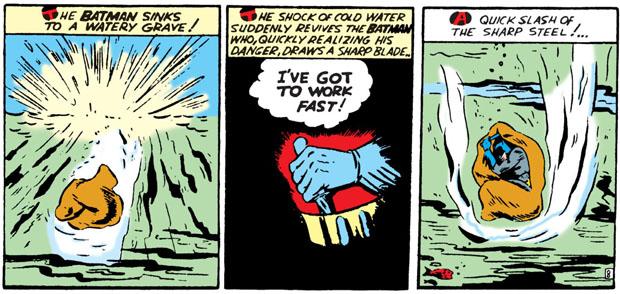 Batman befreit sich mit einem Messer