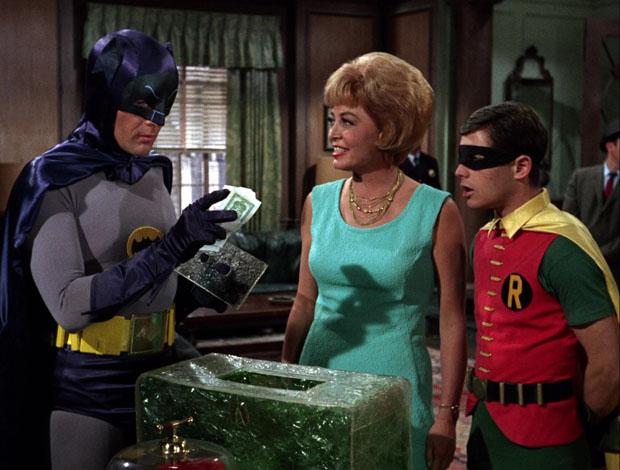 Batman, Robin und grünes Eis