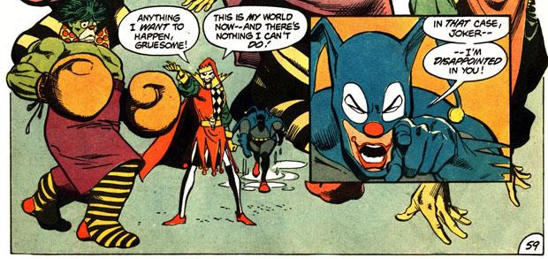 Hulk und Batman als Clowns