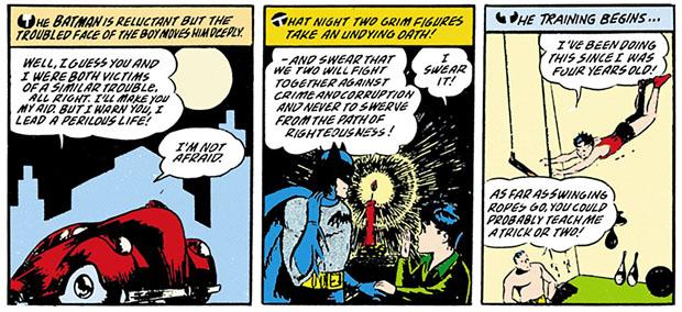 Batman schwört Dick ein.