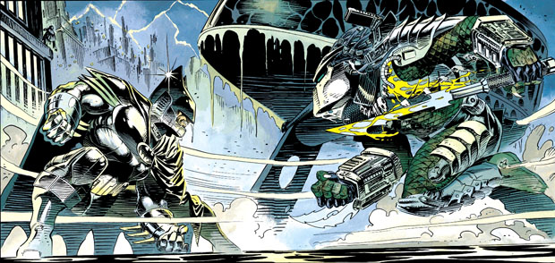 Batman im Finale gegen Predator. (DC Comics)