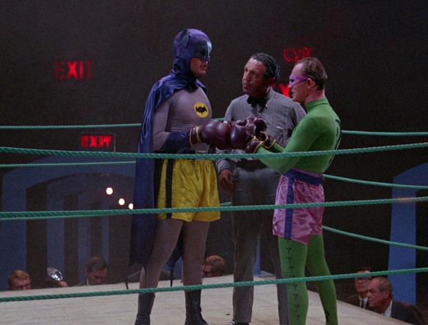 Batman und Riddler im Ring