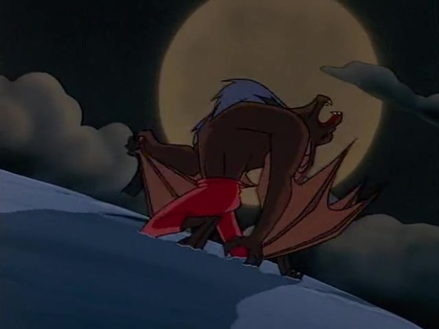 She-Bat heult den Mond an
