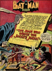 Batman #67 (1951): Joker