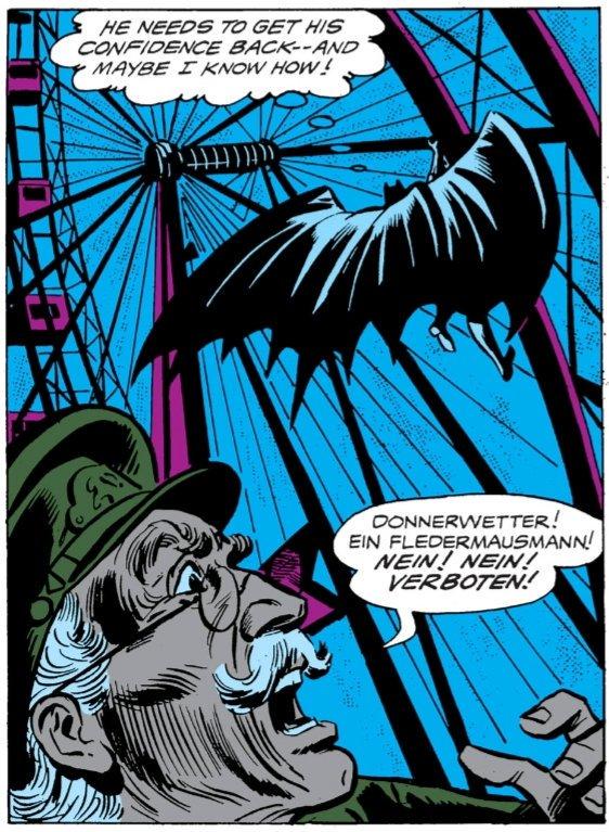 Batman auf dem Riesenrad