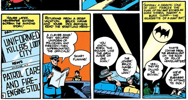Das erste Bat-Signal in Detective Comics #60 (1942)