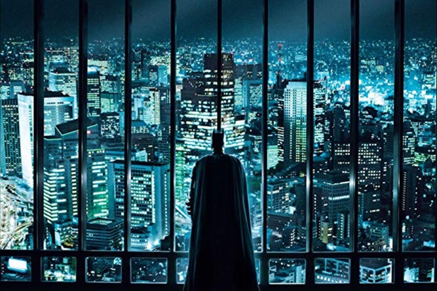 Batman und Gotham: Posterausschnitt aus The Dark Knight. (Warner Bros.)