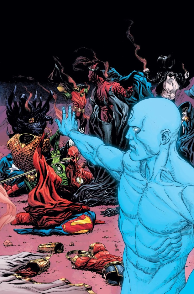 Dr. Manhattan vs. DC Heroes