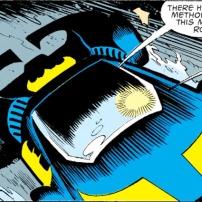 "Batmobil in ""Knightfall"" (DC Comics)."
